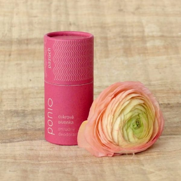ponio pazuch prirodny dezodorant deodorant ruzova cukrova pivonka prirodno