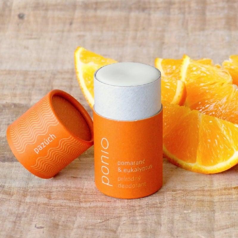 Pazúch prírodný dezodorant Pomaranč & eukalyptus PONIO