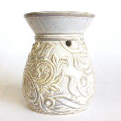 biela keramicka vintage aromalampa prirodno