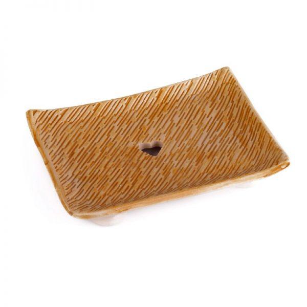 musk keramicka mydelnicka zlta rucne robena prirodno